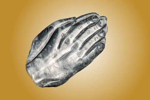 Hands, Pray, Silver, Gold, Folded, Prayer, God