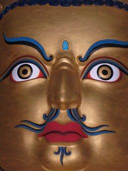 Buddha, Face, Tibet, Budhism, Prayer, Budha, India