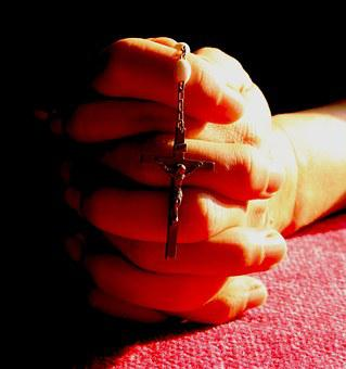 Rosary, Prayer, Pray, Red, Hands, Religion, Catholic