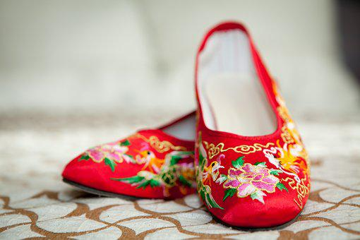 Wedding, Chinese Wedding, Red Shoes, Happiness