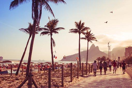 Beach, Rio De Janeiro, Sol, Summer, Sunset, Brazil