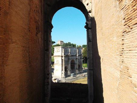 Arch Of Constantine, Rome, Colosseum, Capital