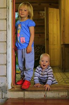 Kids, Brother And Sister, Nikita And Lease, Russia, Joy