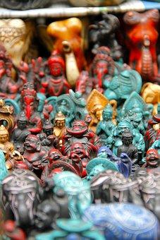 Laughing, Buddha, Elephants, Sculpture, Figurine