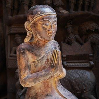 Buddha, Gold, Buddhism, Asia, Siddhartha Gautama