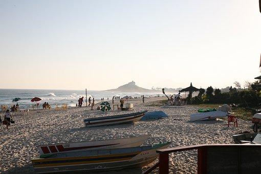 Saquarema, Beach, Mar, Brazil, Sky, Beach Chair, Sunset