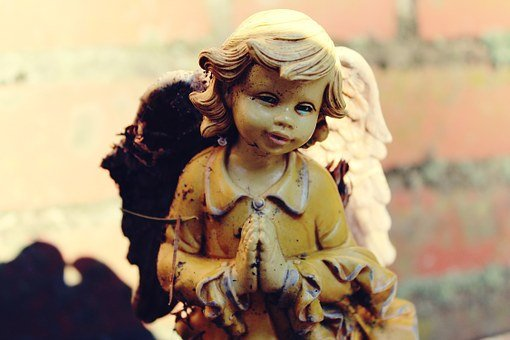 Angel, Statue, Figure, Wing, Cemetery, Woman