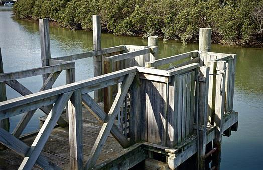 Pier, Wooden, Structure, Jetty, Enclosed, Fenced