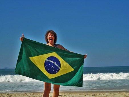 Rio, Copacabana, Beach, Holiday, Sun, Blue Sky, Woman