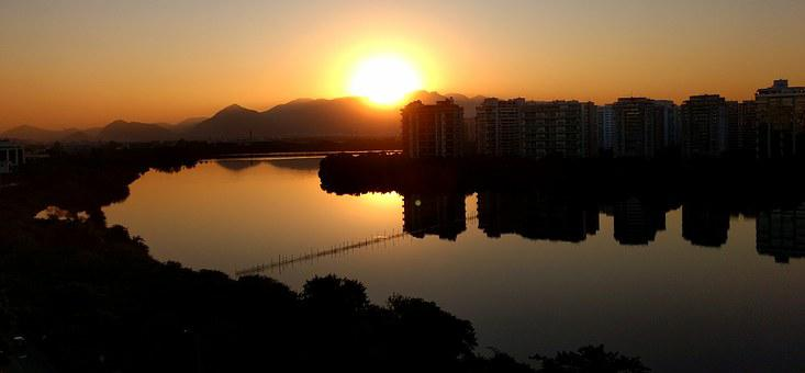 Twilight, Sunset, Barra Da Tijuca, Rio De Janeiro