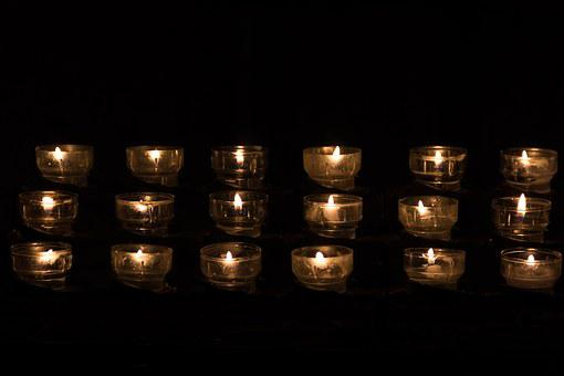 Candle, Candle Light, Tealight, Church, Church Service