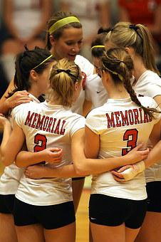 Volleyball Team, Girls, Together, Friends, Smile, Teens