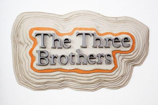 Letters, Text, The Three Brothers, Three Dimensional