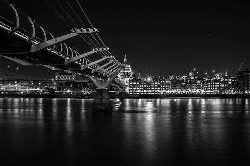Millennium, Bridge, London, City, England, British, Uk