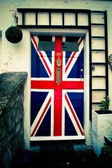Union Flag, Britain, Door, Flag, British, United, Great
