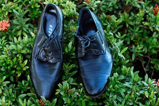 Shoes, Wedding, Husband, Black, Polished