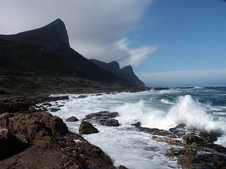 South Africa, Western Cape, Cape Point, Coast, Sea Bay