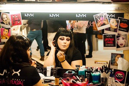 Expocosmética, Model, Woman, Cosmetics, Mirror