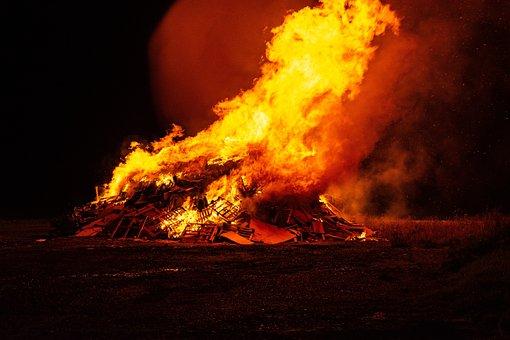 Fire, Fireworks, Guy Fawkes, Bonfire, Burning, Burn