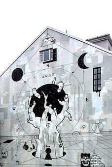 Graffiti, Iceland, Reykjavik, Building, Architecture