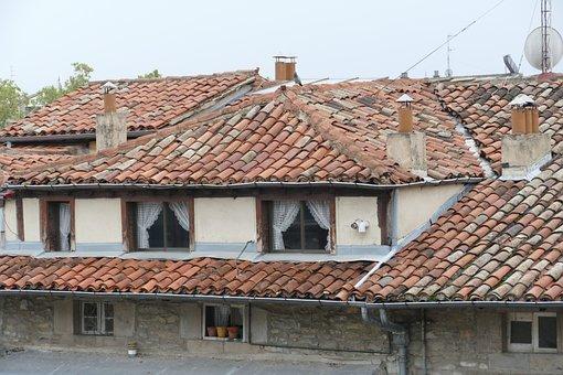 Roof, Roof Tile, Dormer, Architecture, Skewed, Old