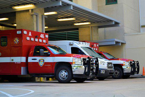 Ambulance, Emergency Room, Houston Texas