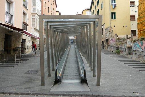 Escalator, Trap, Transport, Up, Climbing, Modern