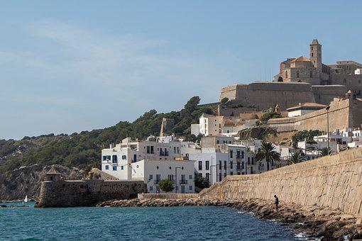 The Old Town, Spain, Cityscape, Old Town, Ibiza, Ruins