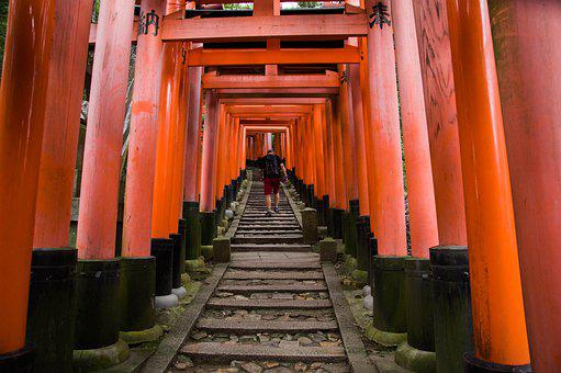 Japan, Kyoto, Fushimi Inari, Temple, Sanctuary, Torii
