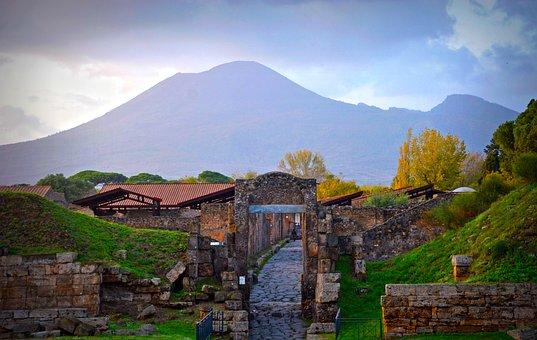 Vesuvius, Volcano, Pompeii, Italy, Naples, Tourism