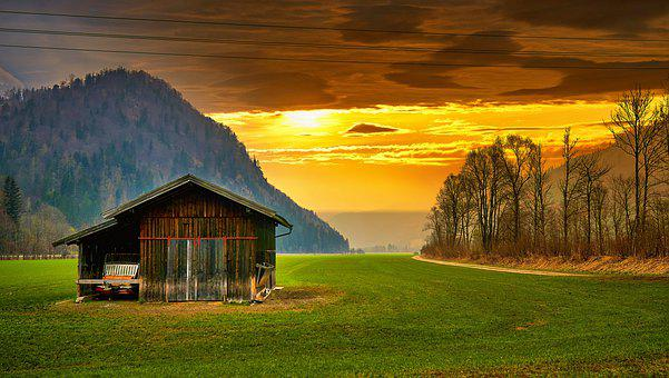 Hagertal, Sunset, Mood, Tyrol, Protected Landscape Area
