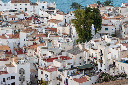 Ibiza, Spain, Roofs, Houses, Cityscape, The Old Town