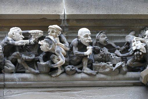 Image, Sculpture, Modern, Art, Stone, Figure, Man, Work