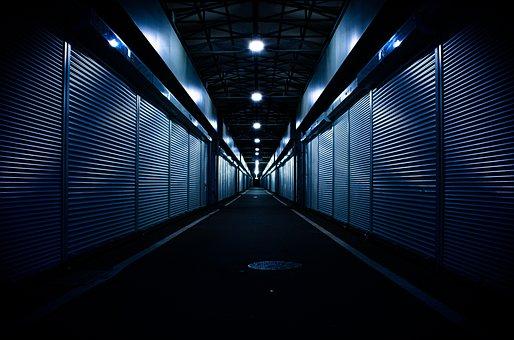 Dark, Mood, Architecture, Market, Night, Light