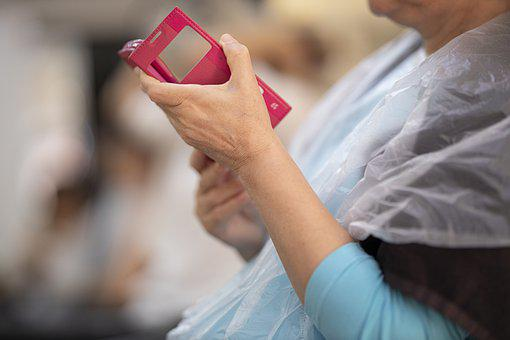 Phone, Woman, Internet, Red, Salon, Beauty, Barber