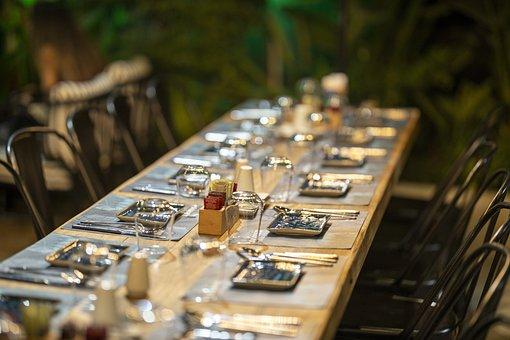 Food, Table, Service, Celebration, Restaurant