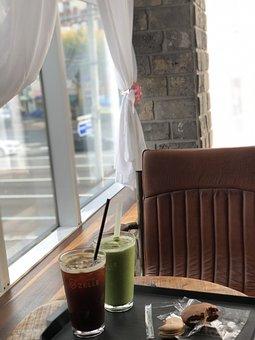 Coffee, Cafe, Chair, Green Tea, Tea, Table, Curtain