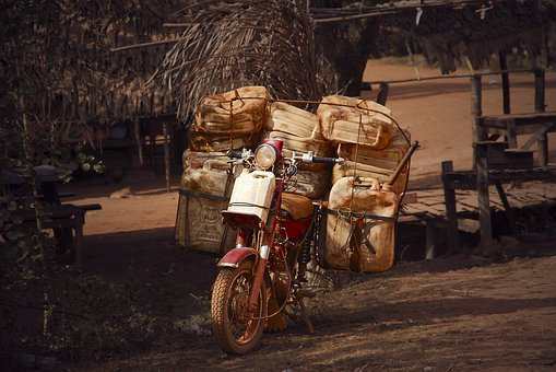 Heavy Transport, Supply, Motorcycle, Charged, Loading