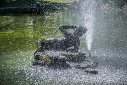 Spout, Statue, Water, Character, Art, Fountain, Woman