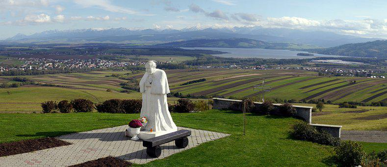 The Statue Of, The Pope, Country, Nature, Tatry