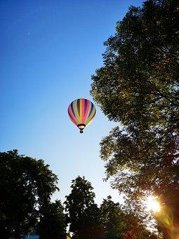 Hot Air Balloon, Sky, Landscape, Flying, Air