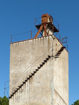 Tower, Plaster, Factory, Industrial, Abandoned
