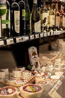 Wine, Cheese, Grocery, Store, Delicious, Appetizer