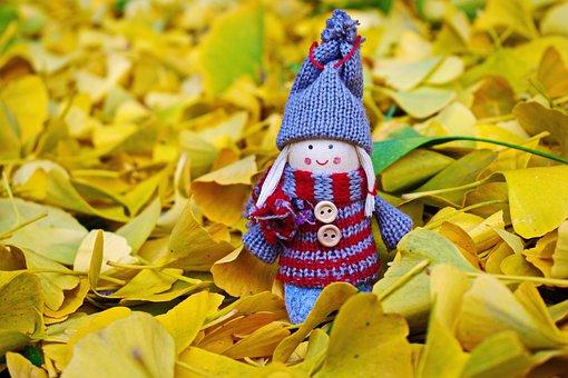 Doll, Autumn, Leaves, Figure, Season, Girl, Fall