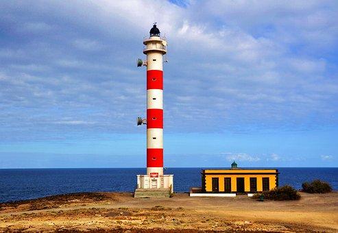 Leuchtturm, Meer, Ocean, Sky, Blue, Lighthouse, Sea