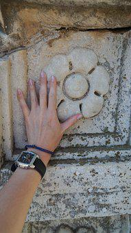 Hand, Clock, Stone, Pattern, Hilt, Turkey, Time, Dial