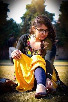 Ethnic Girl, Girl With Glasses, Eyeglasses, People