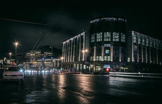 City, Night, Architecture, Lights, Urban, Skyline