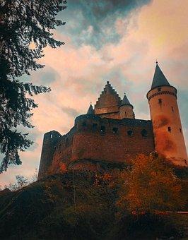 Castle, Castles, Vianden, Luxembourg, Historical