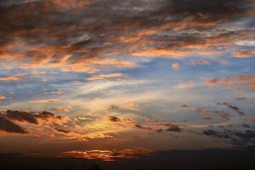 Sunset, Landscape, Nature, Dawn, Water, Ocean, Sky